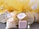 Coffret cadeau Milles et Une Nuit : Fouta, Sels Bain, Savon, Parfum Oranger,