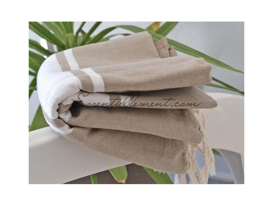 serviette fouta plate taupe classique pas cher. Black Bedroom Furniture Sets. Home Design Ideas