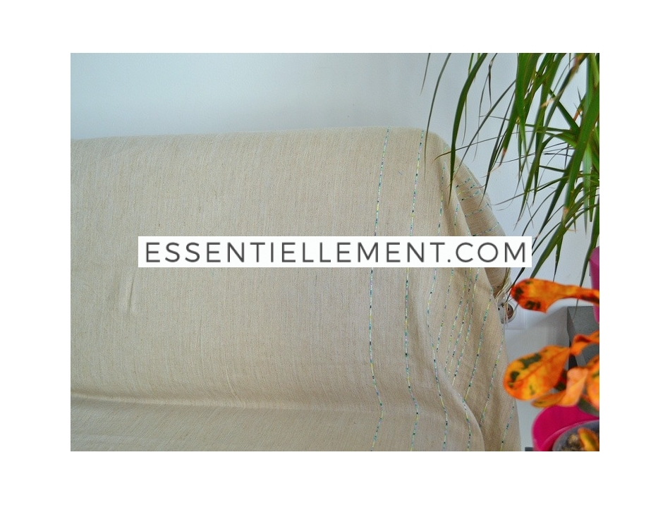 fouta g ante xxl plate tesnim en lin taupe lin fil brod. Black Bedroom Furniture Sets. Home Design Ideas