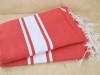 Lot 2x Fouta plate Rouge Tomate