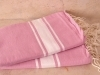 Lot 2x Fouta plate Rose Chewing-Gum