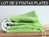 Lot 2x Fouta plate Vert Granny