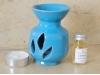 Brûle-Parfum Artisanal Céramique Turquoise + fiole parfum Jasmin