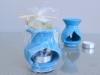 Brûle-Parfum Artisanal Céramique Turquoise + fiole parfum Jasmin- Dispo fin octobre