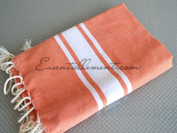 Fouta plate enfant orange carotte