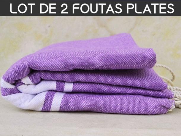 Lot 2x Fouta plate Violet Lavande