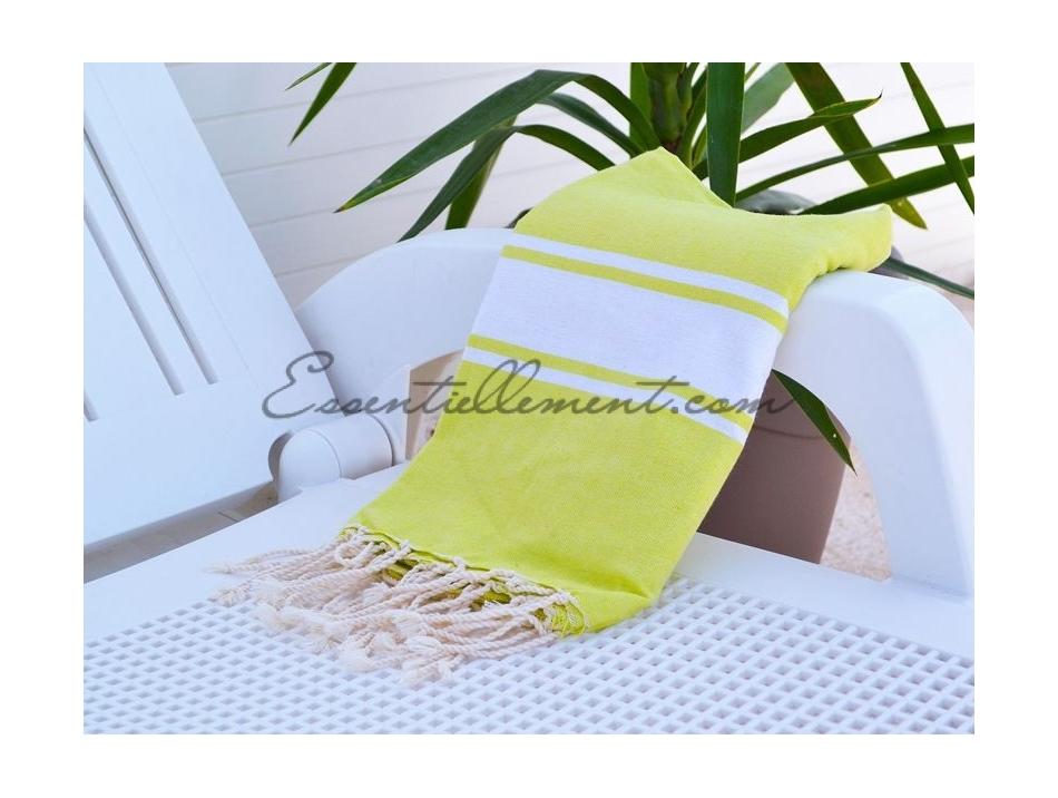 serviette fouta plate jaune anis pas cher. Black Bedroom Furniture Sets. Home Design Ideas