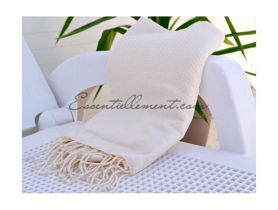 serviette fouta beige clair nid d 39 abeille unie. Black Bedroom Furniture Sets. Home Design Ideas