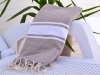 Fouta plate Taupe