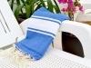 Serviette Fouta Plate Bleu Grec