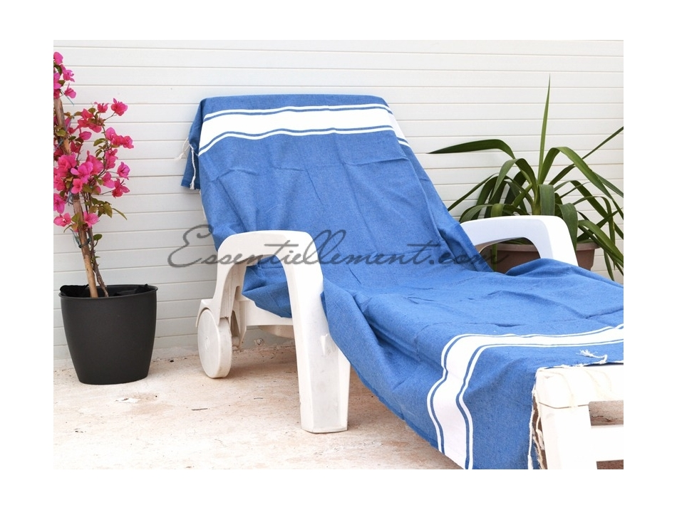serviette fouta plate bleu grec pas cher. Black Bedroom Furniture Sets. Home Design Ideas