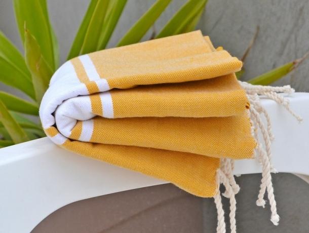 Serviette Fouta Plate Jaune Banane