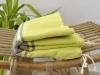 Fouta plate Bicolore Jaune Anis / Gris Cendre