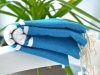 Fouta Plate Médium Bleu méditerranée