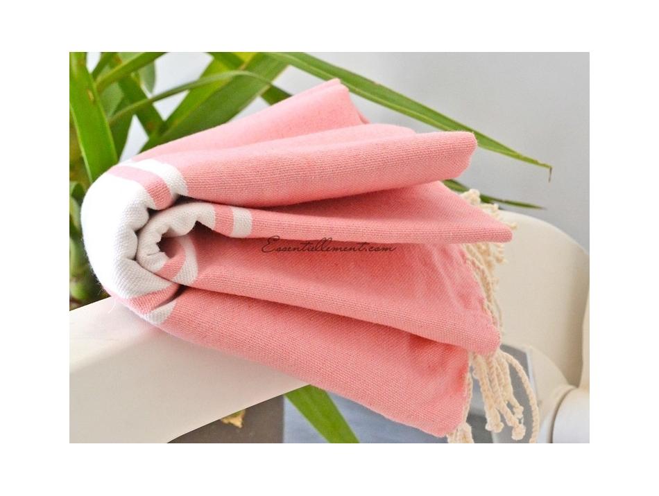 serviette fouta plate rose bonbon classique pas cher. Black Bedroom Furniture Sets. Home Design Ideas