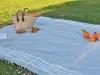 Pré-commande disponible le 30/11 - Maxi Fouta carré Bleu Gris / Argenté Pique Nique XL - plate