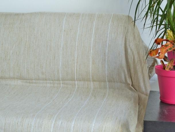 Fouta Plate XXL Morgiane - Toile de Lin / Lurex Argent
