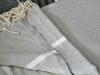 Maxi Fouta XL Chevron Gris flanelle / Blanc