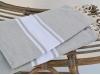 Serviette Fouta Plate Gris Ciment