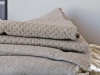 Fouta Nid d'Abeille Gris Taupe