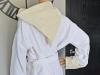 Peignoir de Bain Fouta Blanc Lurex Or - Nid d'abeille
