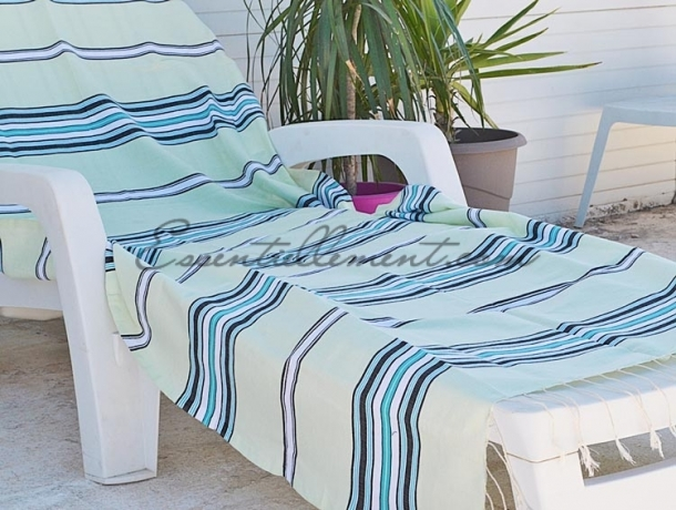 serviette fouta ethnik vert d 39 eau bleu cara bes blanc noir. Black Bedroom Furniture Sets. Home Design Ideas