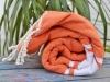 Fouta plate Orange Corail