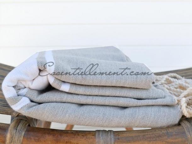 fouta plate gris ciment classique pas cher. Black Bedroom Furniture Sets. Home Design Ideas