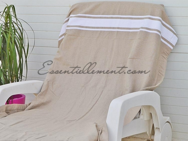 serviette fouta plate taupe classique pas cher. Black Bedroom Furniture Sets. Home Design Ideas