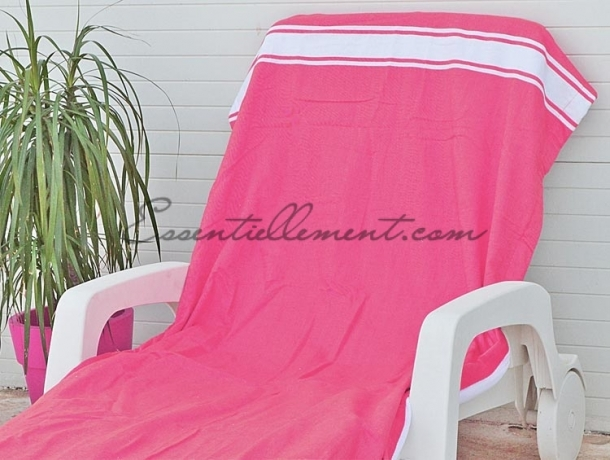 fouta plate rose fushia classique pas cher. Black Bedroom Furniture Sets. Home Design Ideas