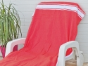 Fouta plate Rouge Tomate