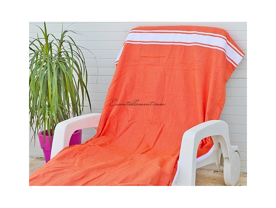 fouta plate orange corail classique pas cher. Black Bedroom Furniture Sets. Home Design Ideas
