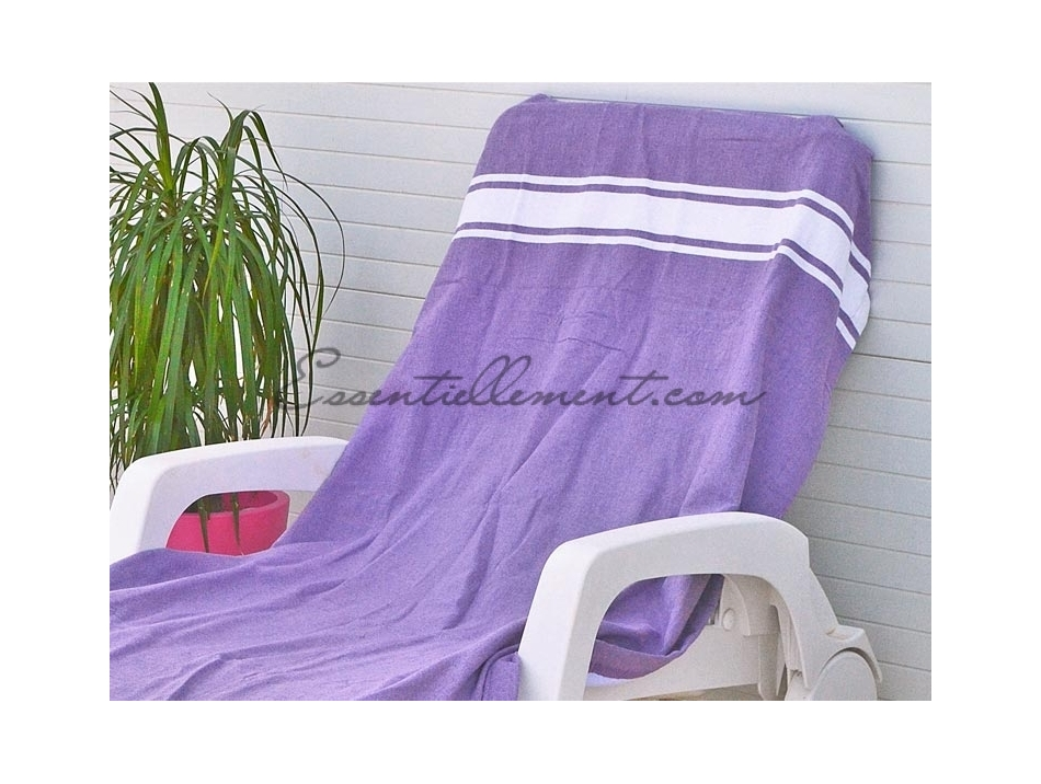 fouta plate violet lavande classique pas cher. Black Bedroom Furniture Sets. Home Design Ideas