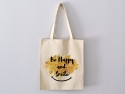 "Sac Tote bag ""Be Happy and Smile"""
