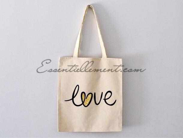 """Sac Tote bag """"Love"""""""