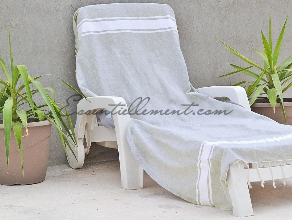 fouta plate gris lin classique pas cher. Black Bedroom Furniture Sets. Home Design Ideas