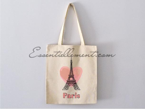 "Sac Totebag ""Paris Tour Eiffel"""