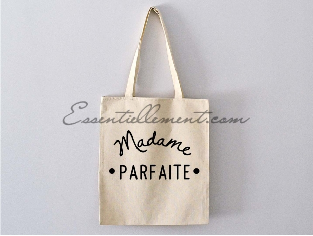sac tote bag madame parfaite pas cher. Black Bedroom Furniture Sets. Home Design Ideas