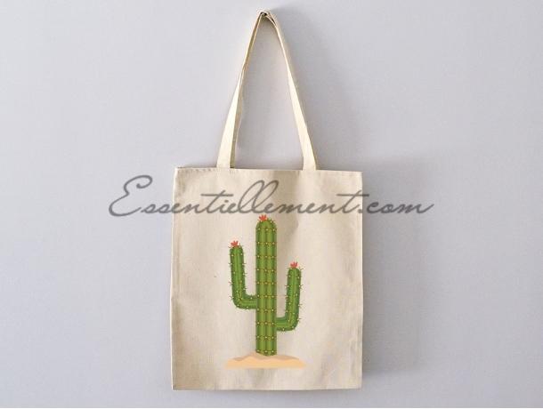 "Sac ToteBag ""Cactus mexicain"""