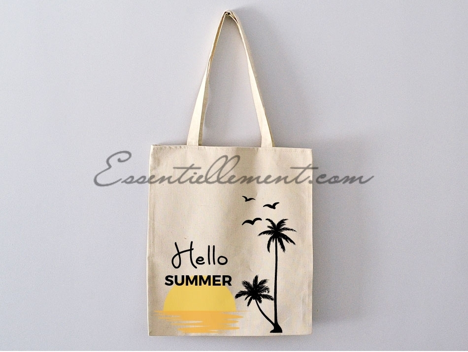 sac tote bag hello summer pas cher. Black Bedroom Furniture Sets. Home Design Ideas