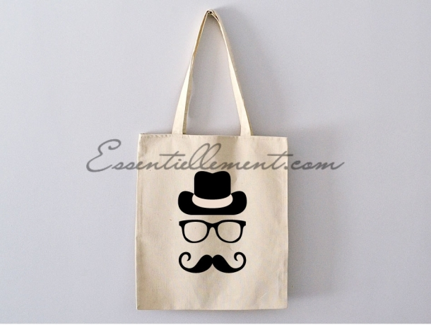 "Sac ToteBag ""Mr Moustache"""