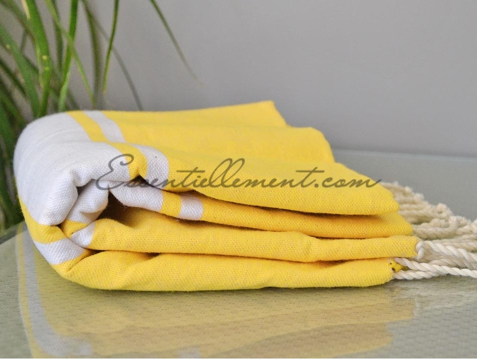 serviette fouta plate jaune canari pas cher. Black Bedroom Furniture Sets. Home Design Ideas