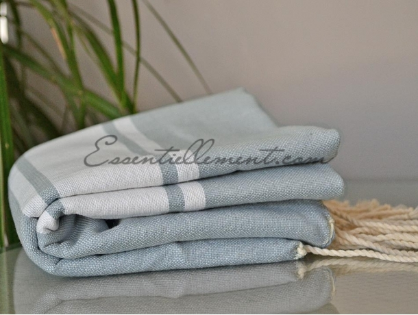 Fouta plate Gris Galet