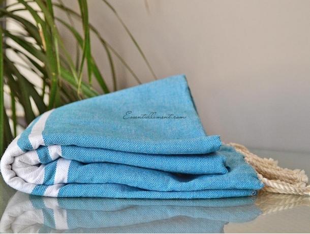 Fouta plate Bleu Provence