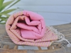Fouta Lurex Rose Dragée rayé Or Plate