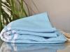 Serviette Fouta Plate Bleu Denim