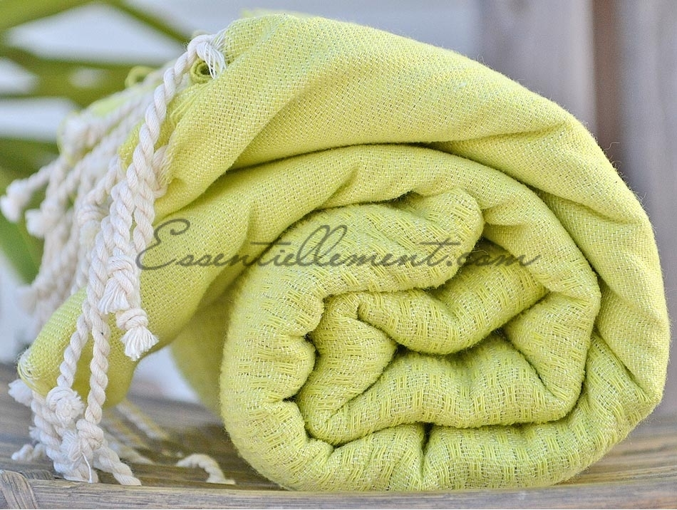 fouta drap de hammam jaune anis nid d 39 abeille serviette plage pas cher. Black Bedroom Furniture Sets. Home Design Ideas