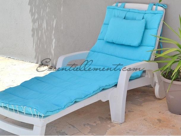 matelas bain de soleil de transat bleu cara bes uni. Black Bedroom Furniture Sets. Home Design Ideas