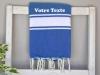 Serviette Fouta plate à Personnaliser Bleu Grec