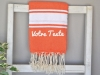 Serviette Fouta plate à Personnaliser Orange